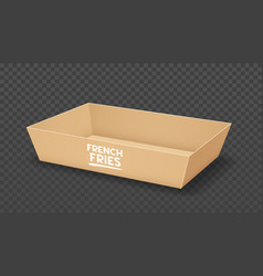 Paper tray brown template design vector