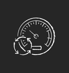 Pressure gauge chalk white icon on black vector
