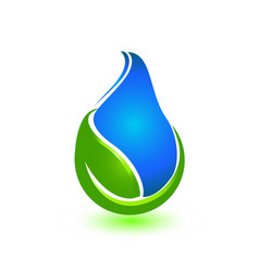 rain drop conservation and nature leaf icon vector image