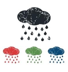 Rain grunge icon set vector