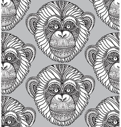 Seamless pattern with hand drawn ornate zentagle vector