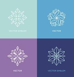 set logo design templates and symbols in trendy vector image