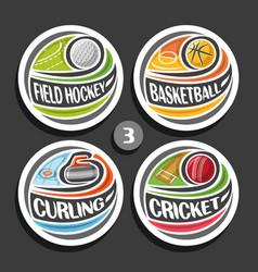 Set of sport logos vector