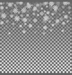 snowflake transparent background vector image vector image