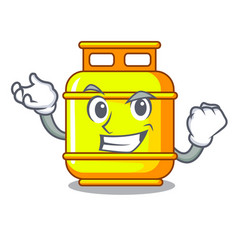 Successful gas tank operating character vector