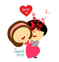Sweet love valentines vector
