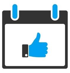 Thumb Up Hand Calendar Day Toolbar Icon vector