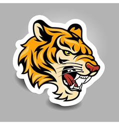 Tigerhead sticker vector