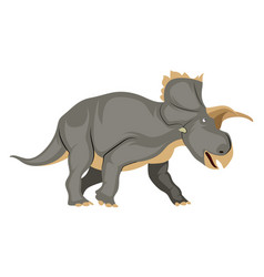 Triceratops on white background vector