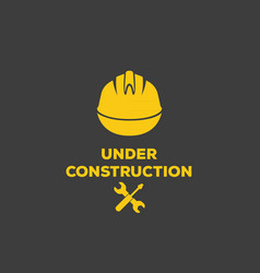 Under construction logo vector