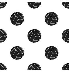 volleyball icon black single sport icon from the vector image