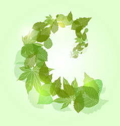 Whirlpool with green leaves and sparkles for vector