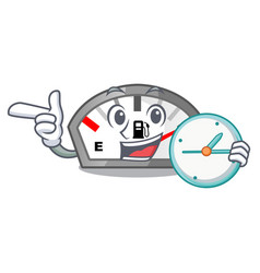 With clock gasoline indicator isolated with in vector