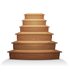 Wood stairs vector