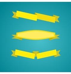 yellow ribbons set vector image