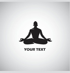 yoga logo template design vector image