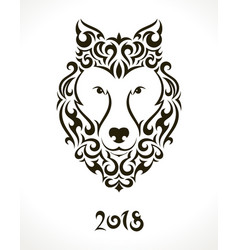 for 2018 chinese new year vector image