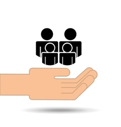 hand holding family person group design vector image