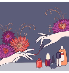 Nail salon vector