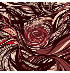 Rose - Abstract modern design vector image vector image