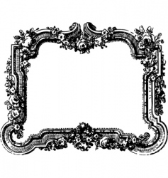 Victorian floral frame vector image vector image