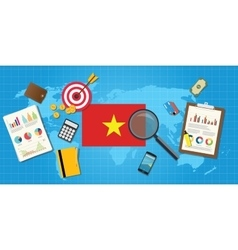 Vietnam economy economic condition country with vector
