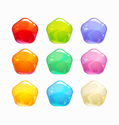 cartoon colorful jelly candies set vector image vector image
