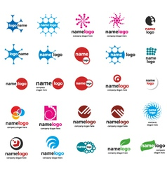 different logo balls vector image vector image