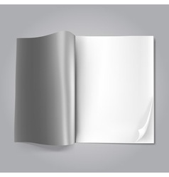 magazine blank vector image vector image
