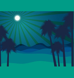 night in the desert desert landscape vector image