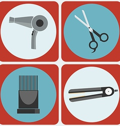 Feminine Beauty Hairstyling Tools colorful icon vector image vector image