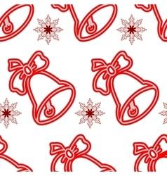 Jingle bells Seamless christmas pattern vector image