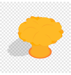 nuclear explosion isometric icon vector image
