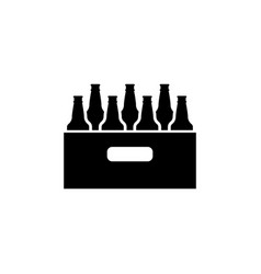 Pack of beer bottles flat icon vector