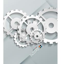 paper gear modern design vector image