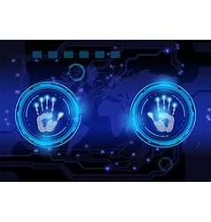 scan hand print vector image vector image