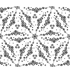 Abstract seamless pattern with waves and circles vector