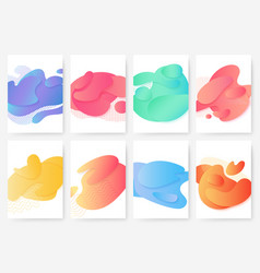 abstract smooth liquid gradient color shapes vector image