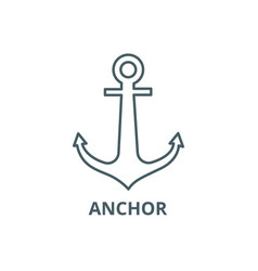 anchor line icon anchor outline sign vector image