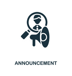 Announcement icon simple element from business vector
