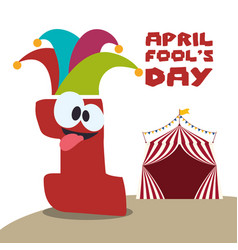 April fools day festive celebration vector
