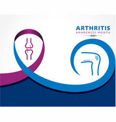 Arthritis awareness month observed each year vector