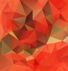 Autumn orange polygon triangular pattern vector
