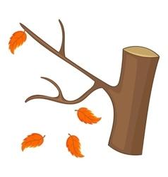 Autumn tree icon cartoon style vector