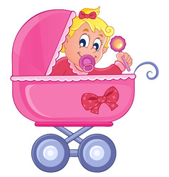 Baby carriage theme image 4 vector