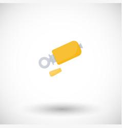 bird call whistle flat icon vector image