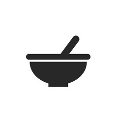 bowl icon vector image