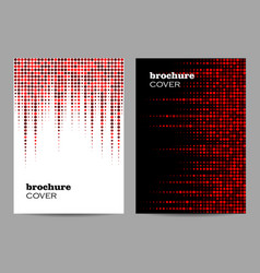 brochure template layout design abstract red vector image