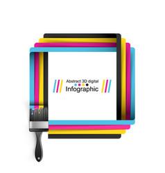 brush paint cmyk color vector image