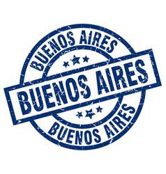 Buenos aires blue round grunge stamp vector
